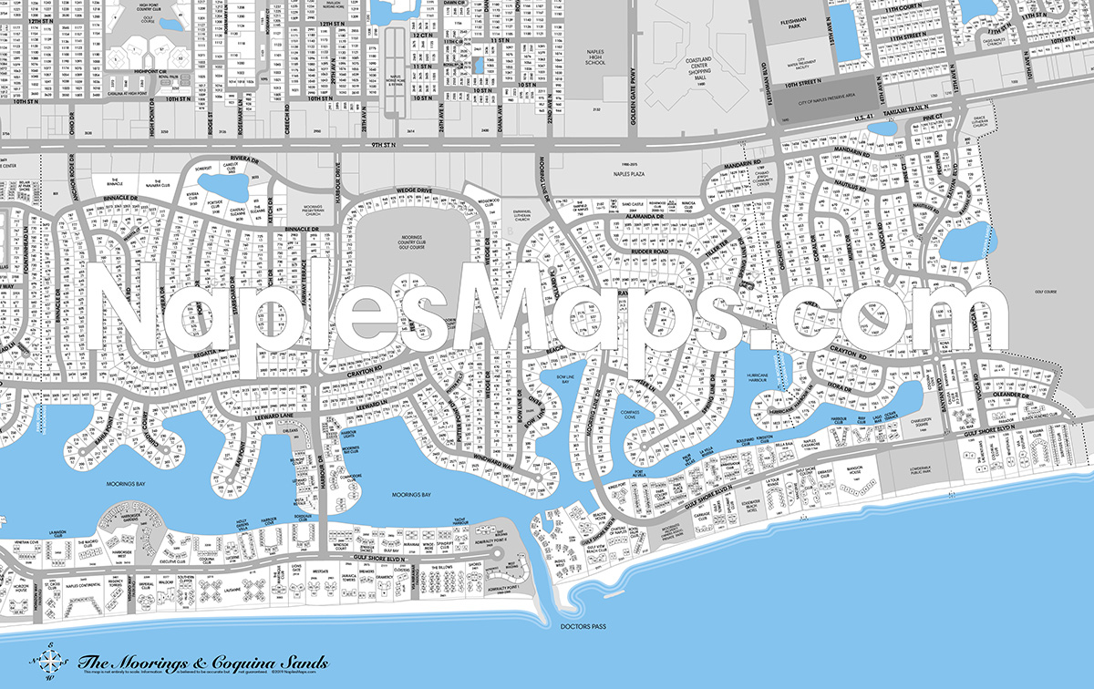 Map of The Moorings and Coquina Sands Naples