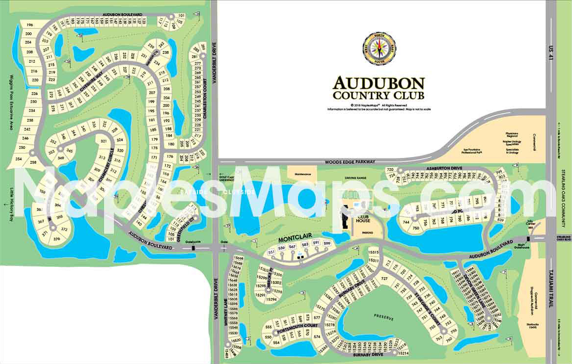 Map of Audubon Country Club