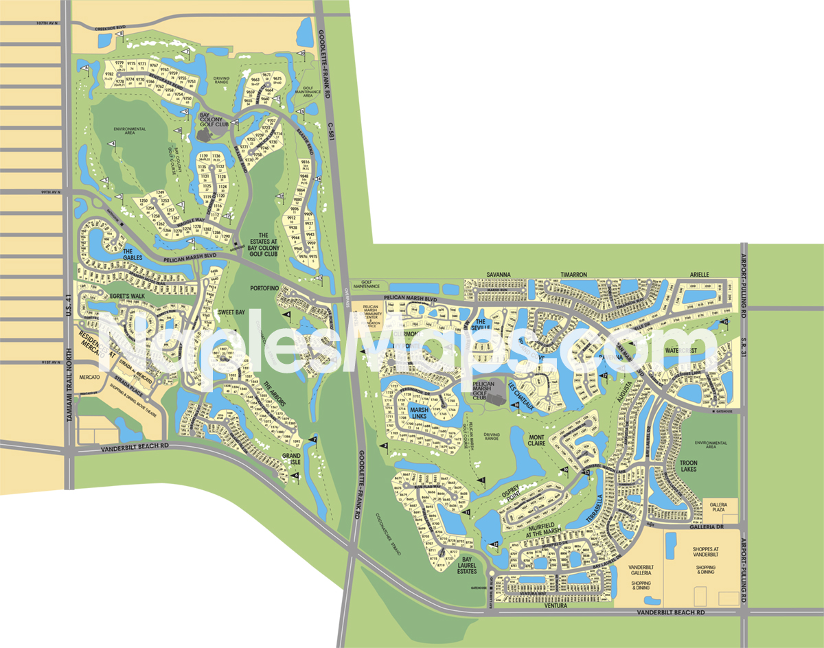 Naplesmaps Neighborhood Maps Of Naples Amp Marco Island