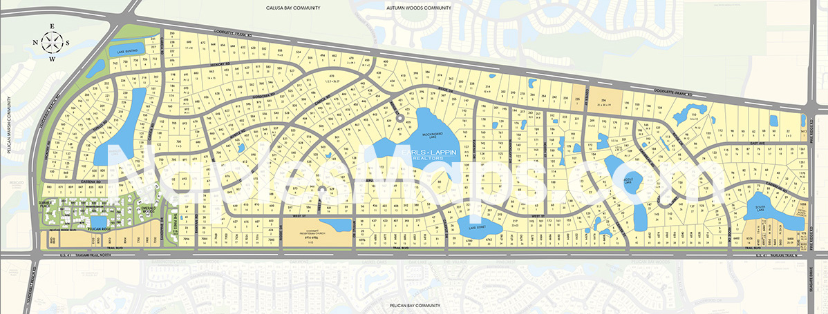 Map of Pine Ridge Naples